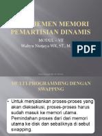 Manajemen Memori Pemartisian Dinamis