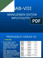 Manajemen Input Output