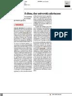 Piano per il clima, due università aderiscono - Il Corriere Adriatico del 6 aprile 2021