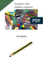 Les fournitures scolaires