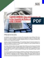 """Curso"""" Una visión práctica de la LOPD y el RD 1720_2007"""""""
