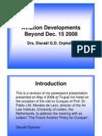Aviation Developments Beyond Dec 15 2008