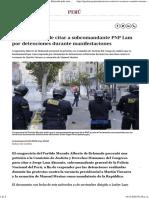 Protestas contra la vacancia a Martín Vizcarra De Belaunde pide citar a subcomandante de la PNP Jorge Lam por detenciones durante marchas nndc  PERU  GESTIÓN