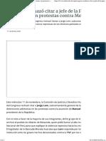 Congreso Rechazó Citar a Jefe de La PNP Por Detenciones en Protestas Contra Merino - Cutivalú Piura