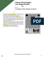Reggio E. S. Stefano 16 nov 2014 - articolo Prima Pagina