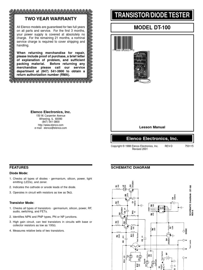 Dt 100 Bipolar Junction Transistor Diode Lightemitting Diodes Ledandlightcircuit Circuit Diagram