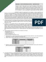 Finanças Empresariais - Exercício - Custo e Estrutura de Capital