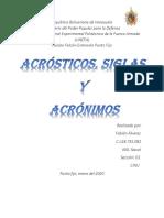 Acrosticos, Siglas y acronimos
