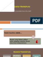 13. EVALUATION AND REPORTING A TRANSFUSION REACTION