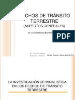 HECHOS DE TRÁNSITO TERRESTRE