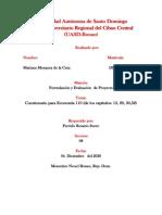 Cuestionario para Economia 110