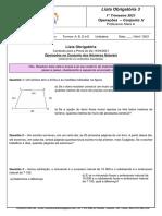 Lista Obrigatoria - Referente à Prova  de 16 Abril/2021