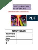 FICHA DE EVALUACION DIAGNOSTICA -3, 4 y 5 GRADO