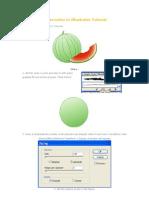 Drawing a Watermelon in Illustrator Tutorial