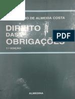 Direito das Obrigações - Mário Júlio de Almeida Costa