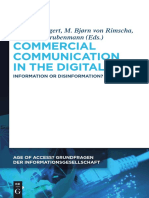 (Book) Commercial Communication in the Digital Age - Information or Disinformation