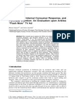 (Journal) Ad-Creativity, Internal Consumer Response, and Purchase Intention