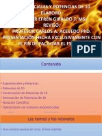 CLASE  EXPONENCIALES Y POTENCIAS DE 10