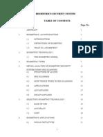 Bio Metrics Security System Report