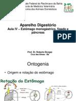 Aula IV Digestório - Estômago Monogástrico, Fígado e Pâncreas (1)