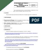 Procedimiento de trabajo seguro de limpieza y desinfeccion  de instalaciones- Revisión_