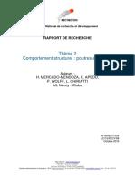 R16RECY034 Theme 2 Comportement Structurel Poutre en Flexion IJL ICUBE LC15RECY68