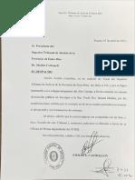 Disculpas formales de Castrillón a Medina