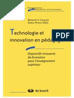 Technologie Et Innovation en Pédagogie. Dispositifs Innovants de Formation Pour l'Enseignement Supérieur-2002