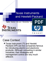 Case Study - Management Control - Texas Instruments and Hewlett - Packard