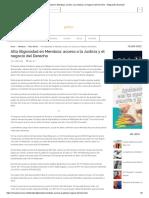 Alta Litigiosidad en Mendoza_ Acceso a La Justicia y El Negocio Del Derecho - Integración Nacional