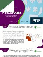 EXAMEN MENTAL EN PSICOPATOLOGÍA upc