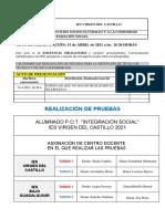 INTEGRACIÓN SOCIAL. 2021