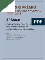 Politica Fiscal e Ciclo No Brasil Prêmio TN 2016