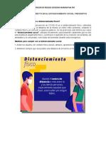 CHARLA DISTANCIAMIENTO SOCIAL ESUR
