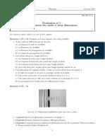 Évaluation n° 5 - Propagations des ondes à deux dimensions (14-03-2014)