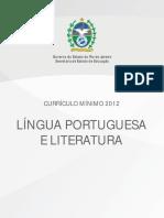 Currículo Mínimo. Língua Portuguesa e Literatura