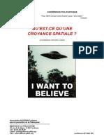 1600-190 - Qu'est-ce qu'une croyance spatiale -