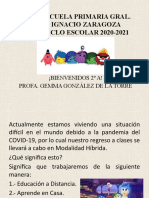 BIENVENIDOS 2o A CICLO 2020 2021