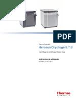 Manual Cryofuge 8 Portugues
