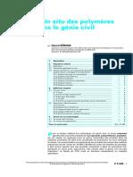 Polymères Liquides en Génie Civil