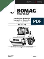 Manuel Opérateur Compacteur Simple-bille Bomag BW177 D-4 Fr