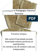 Educao e Pedagogia Clssica Romana...