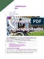 Pension de orfandad para discapacitados