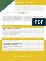 Checklist Acessibilidade