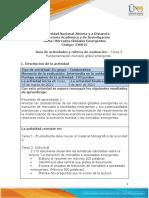 Guía de actividades y rúbrica de evaluación - Unidad 2 - Tarea 3 - Fundamentación mercado global emergente