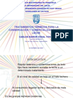 TRATAMIENTOS TERMICOS PARA LACONSERVACIÓN Y COMERCIALIZACIÓN DE LALECHE