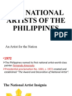 Lesson 3- THE NATIONAL ARTISTS OF THE PHILIPPINES