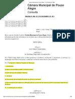 Lei Ordinária Nº 1086 - Código Tributário de Pouso Alegre