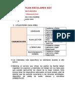 Útiles de escritorio - Comunicación (secundaria)