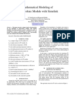 Mathematical modeling of photovoltaic module with Simulink